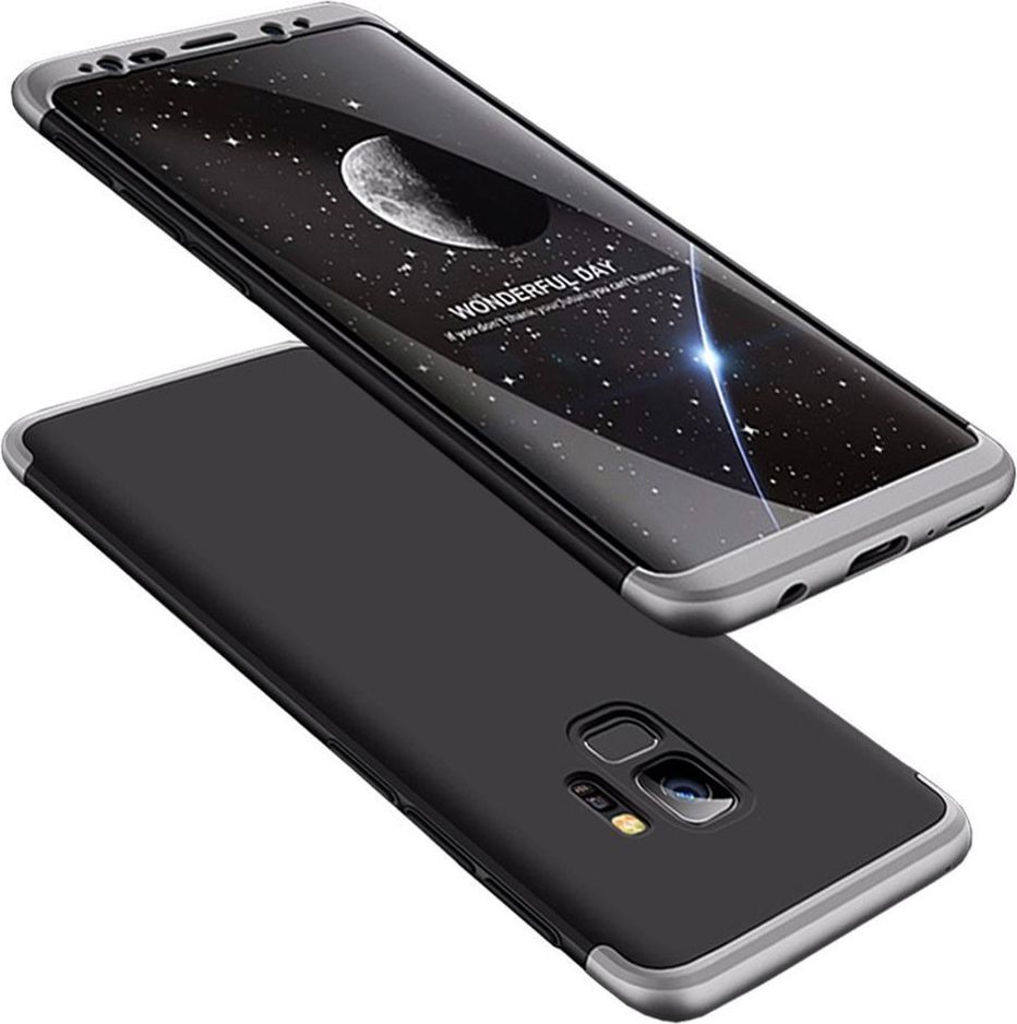 Hurtel 360 Protection etui na całą obudowę przód + tył Samsung Galaxy S9 G960 czarno-srebrny 1