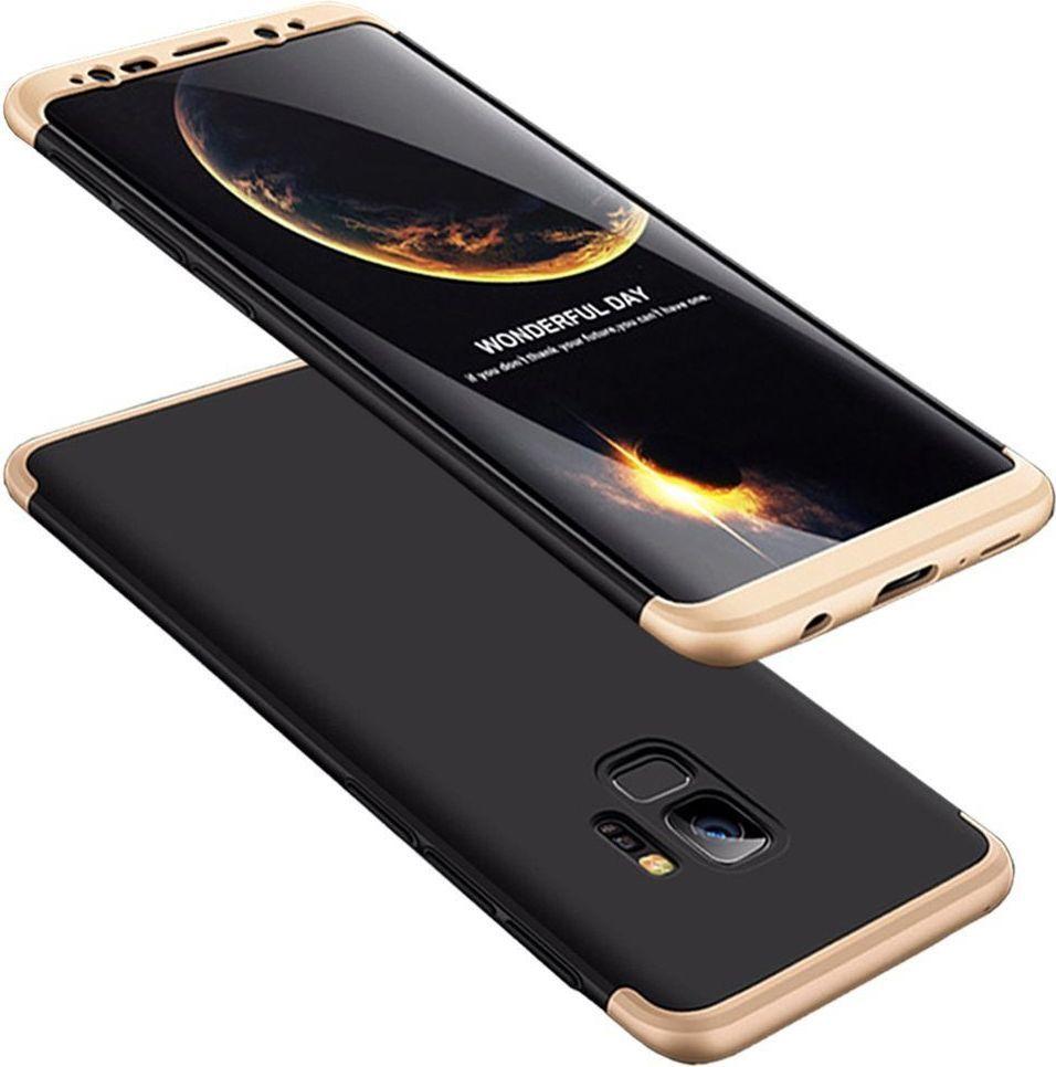 Hurtel 360 Protection etui na całą obudowę przód + tył Samsung Galaxy S9 G960 czarno-złoty 1
