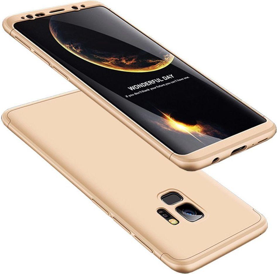 Hurtel 360 Protection etui na całą obudowę przód + tył Samsung Galaxy S9 G960 złoty 1