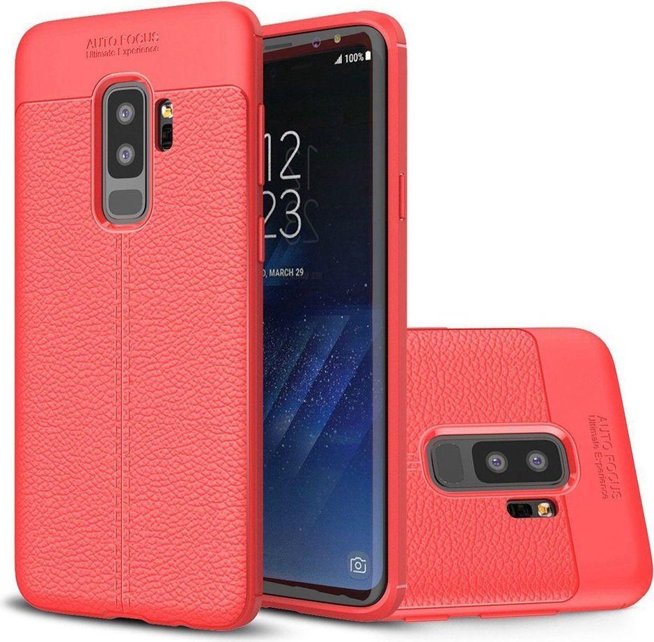 Hurtel Litchi Pattern elastyczne etui pokrowiec Samsung Galaxy S9 Plus G965 czerwony 1