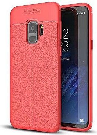 Hurtel Litchi Pattern elastyczne etui pokrowiec Samsung Galaxy S9 G960 czerwony 1