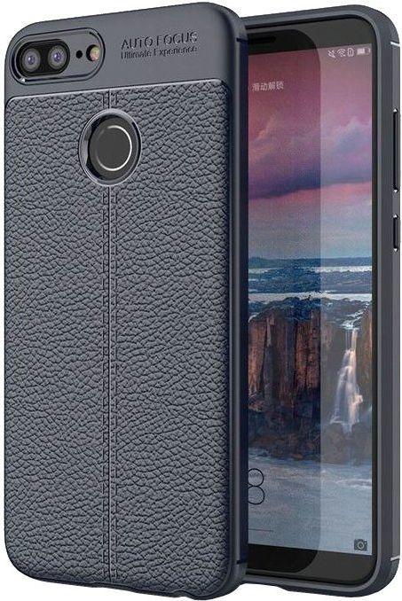 Hurtel Litchi Pattern elastyczne etui pokrowiec Huawei Honor 9 Lite niebieski 1