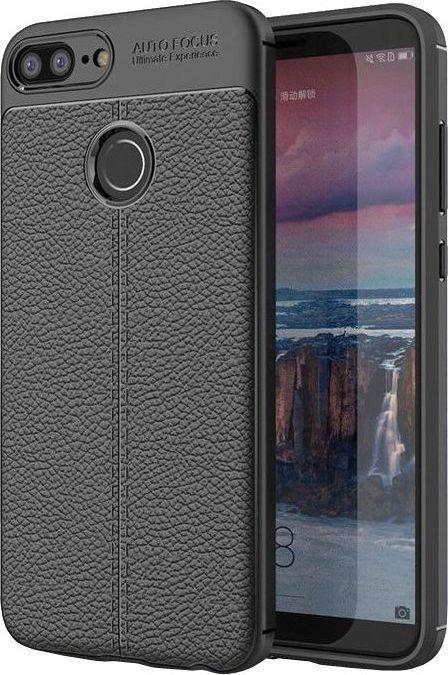 Hurtel Litchi Pattern elastyczne etui pokrowiec Huawei Honor 9 Lite czarny 1