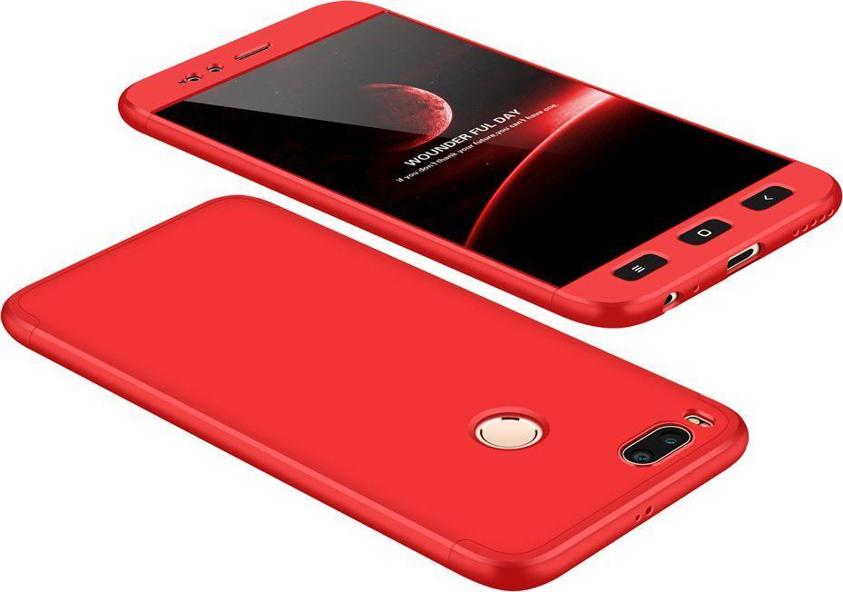 Hurtel 360 Protection etui na całą obudowę przód + tył Xiaomi Mi A1 / Mi 5X czerwony 1