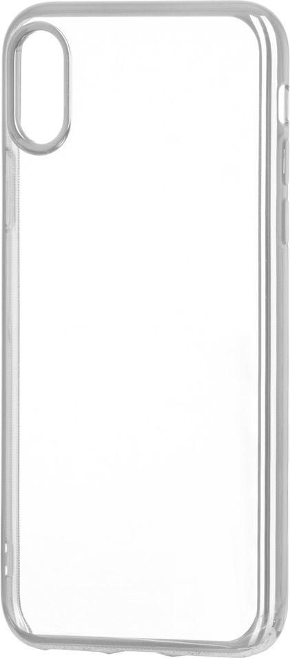 Hurtel Żelowy pokrowiec etui Metalic Slim iPhone X srebrny 1