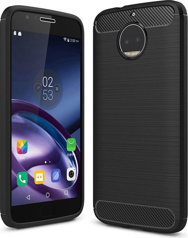 Hurtel Carbon Case elastyczne etui pokrowiec Motorola Moto G5S czarny 1