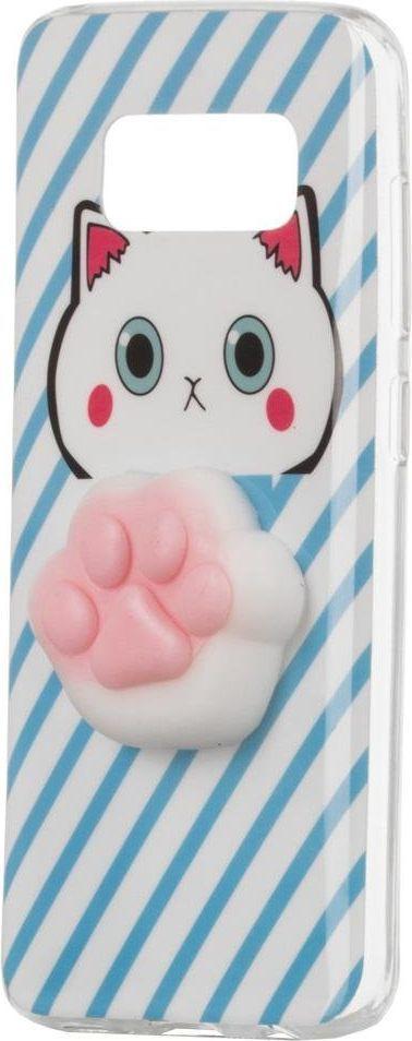 Hurtel Żelowy pokrowiec etui Squishy animal gumowa zabawka 4D gniotek Samsung Galaxy A8 2018 A530 łapka 1