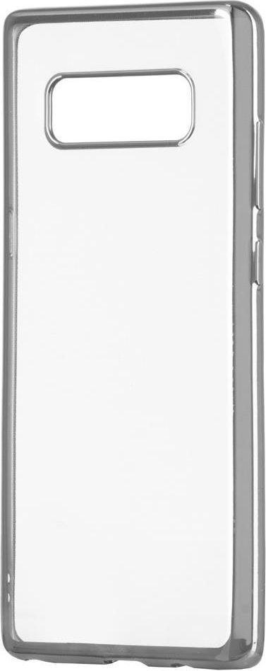 Hurtel Żelowy pokrowiec etui Metalic Slim Sony Xperia XA2 srebrny 1