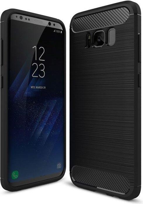 Hurtel Etui Samsung Galaxy S8 Plus G955 Carbon Case elastyczne pokrowiec czarny 1