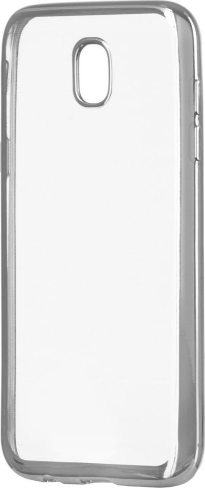 Hurtel Etui Samsung Galaxy J3 2017 J330 Metalic Slim żelowy pokrowiec z metaliczną ramką srebrny 1