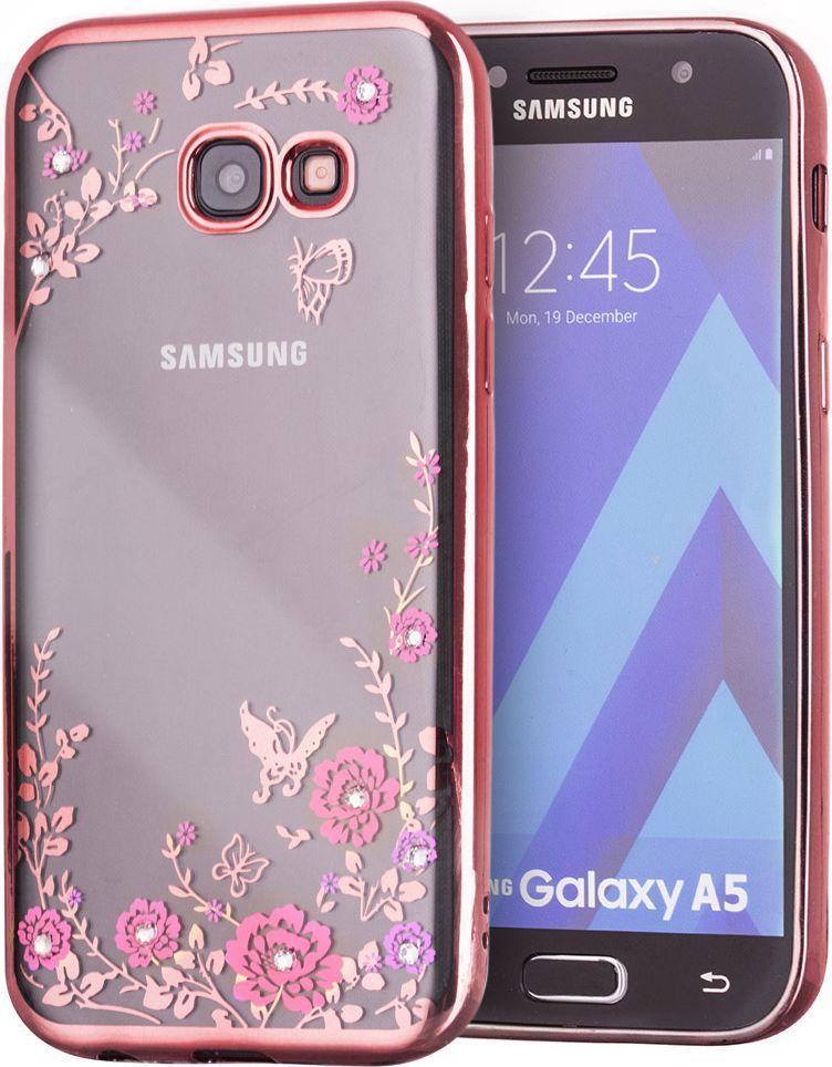 Hurtel Bloomy Case designerskie etui żelowy pokrowiec Samsung Galaxy A5 2017 A520 różowy 1