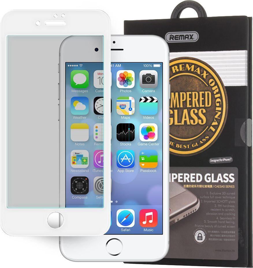 Remax Remax Caesar 3D Tempered Glass szkło hartowane z ramką i filtrem Privacy na cały ekran iPhone 7 biały 1