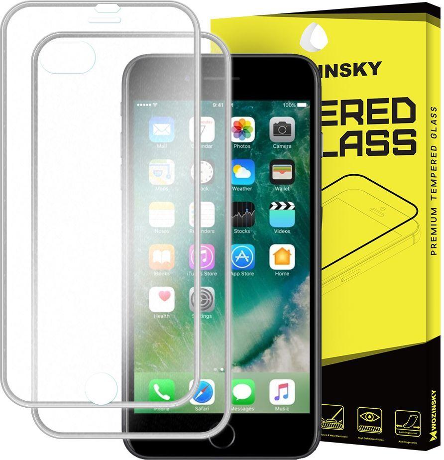 Wozinsky Szkło hartowane iPhone 8 Plus / 7 Plus Wozinsky osłona na cały ekran oraz nakładką na tył z aluminiową ramką srebrny 1
