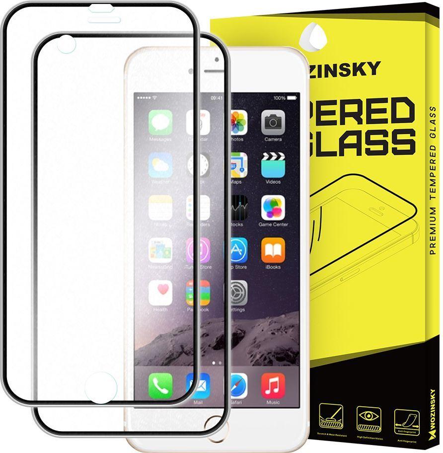 Wozinsky Szkło hartowane iPhone 6S / 6 Wozinsky osłona na cały ekran oraz nakładką na tył z aluminiową ramką czarny 1
