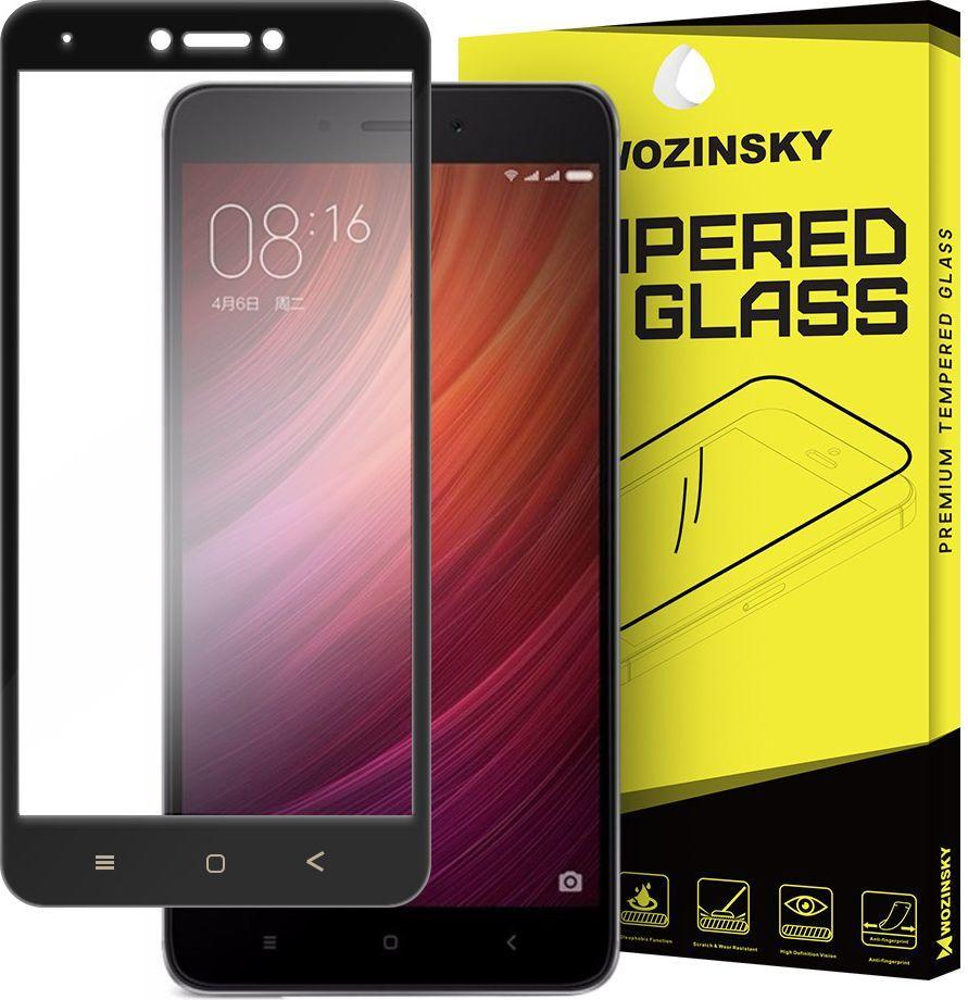 Wozinsky Szkło hartowane Xiaomi Redmi Note 4X / Redmi Note 4 (Snapdragon global version) Wozinsky Full Screen na cały ekran z ramką 9H czarny 1