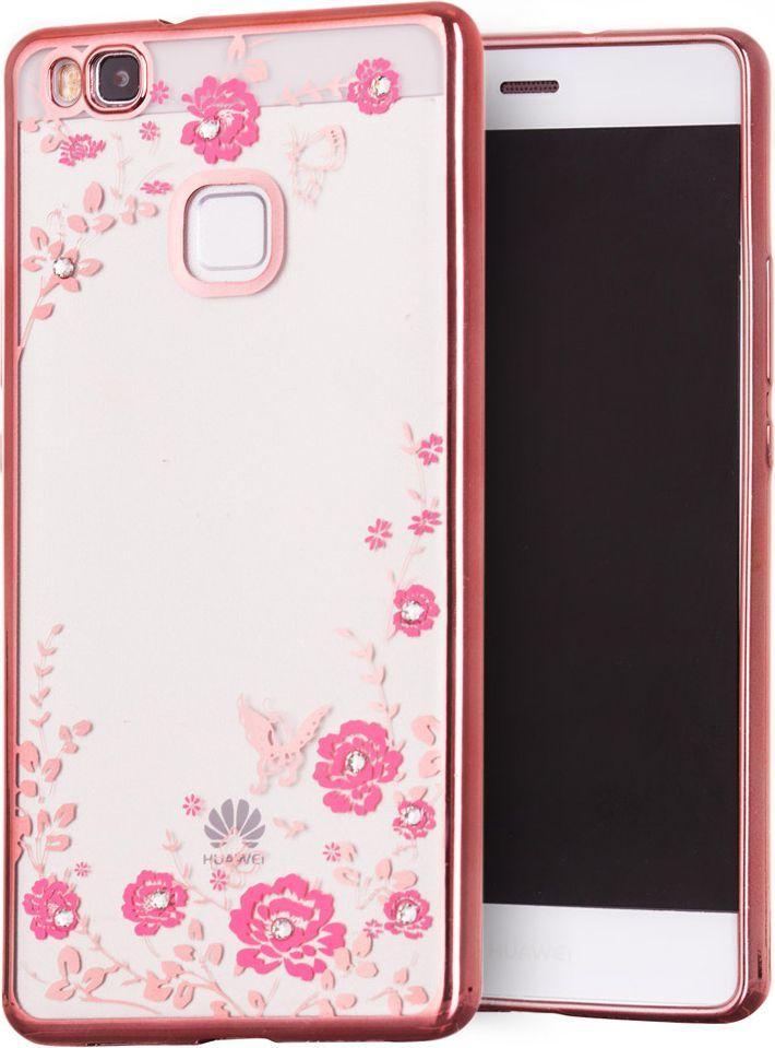 Hurtel Bloomy Case designerskie etui żelowy pokrowiec Huawei P9 Lite różowy 1