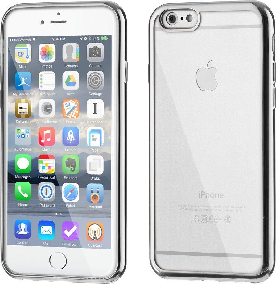 Hurtel Żelowe etui Metalic Slim na iPhone 6S Plus 6 Plus srebrne 1