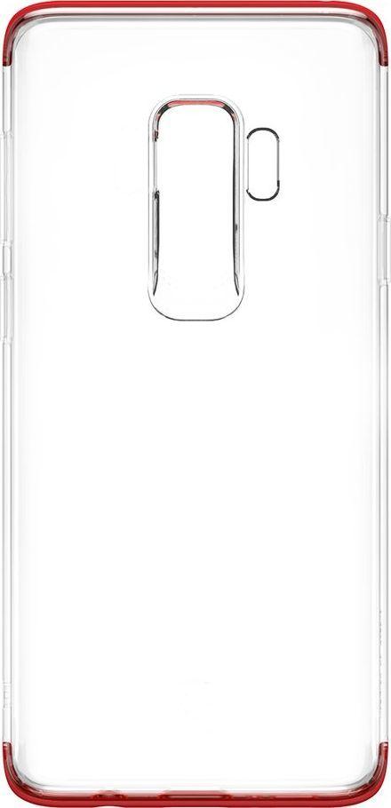 Baseus Baseus Armor Case przezroczyste etui pokrowiec z wzmocnioną ramką Samsung Galaxy S9 Plus G965 czerwony (WISAS9P-YJ09) 1