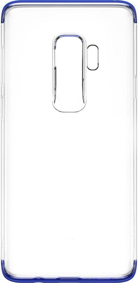 Baseus Baseus Armor Case przezroczyste etui pokrowiec z wzmocnioną ramką Samsung Galaxy S9 Plus G965 niebieski (WISAS9P-YJ03) 1