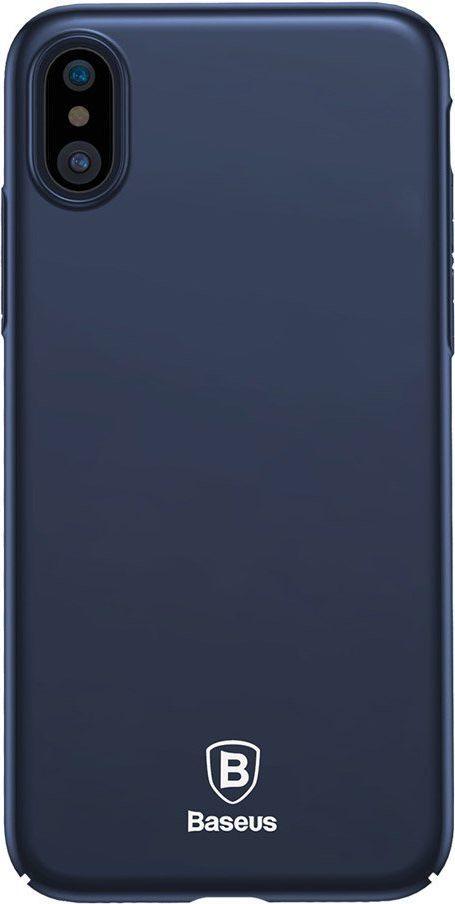 Baseus Etui iPhone X Baseus Thin Case ultra cienki pokrowiec niebieski 1