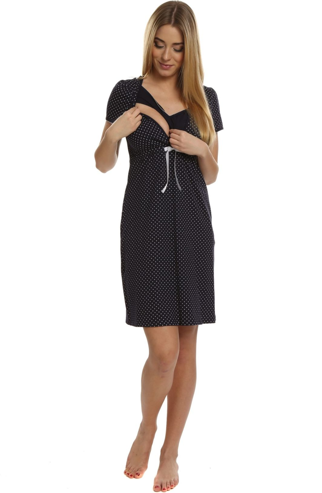 Italian fashion Koszula nocna radość granatowa r. XL 1