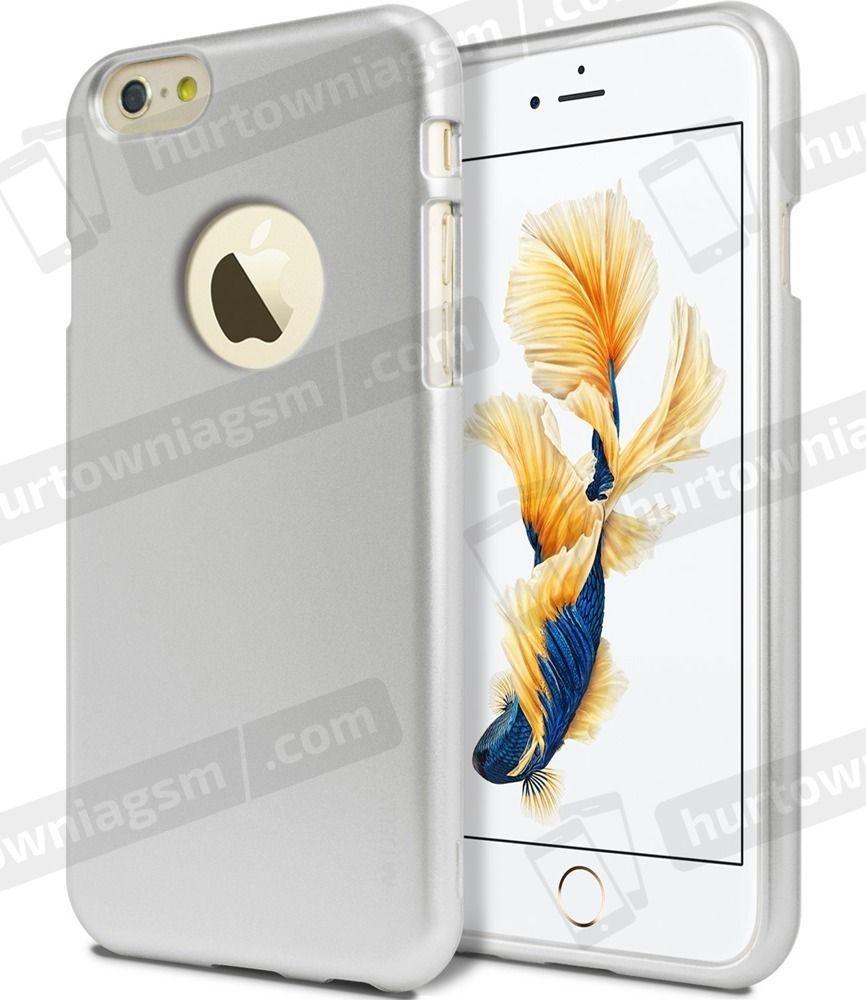 Mercury Goospery Etui iJelly IPHONE 6+/6S+ srebrny 1