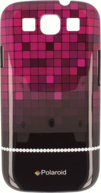 Polaroid Etui Polaroid hard iPhone 4 kafelki różowe 1