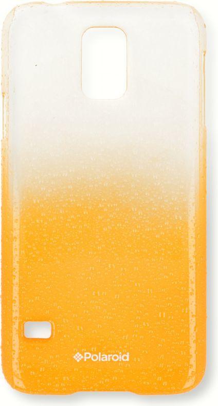 Polaroid Etui Polaroid hard Samsung S4 water drops żółte 1
