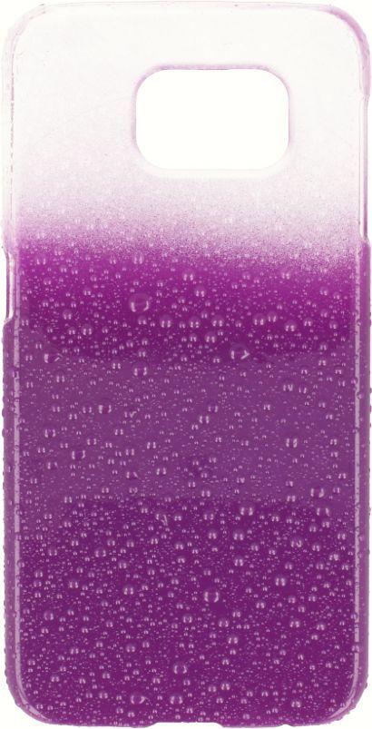 Polaroid Etui Polaroid hard Samsung S4 water drops fioletowe 1