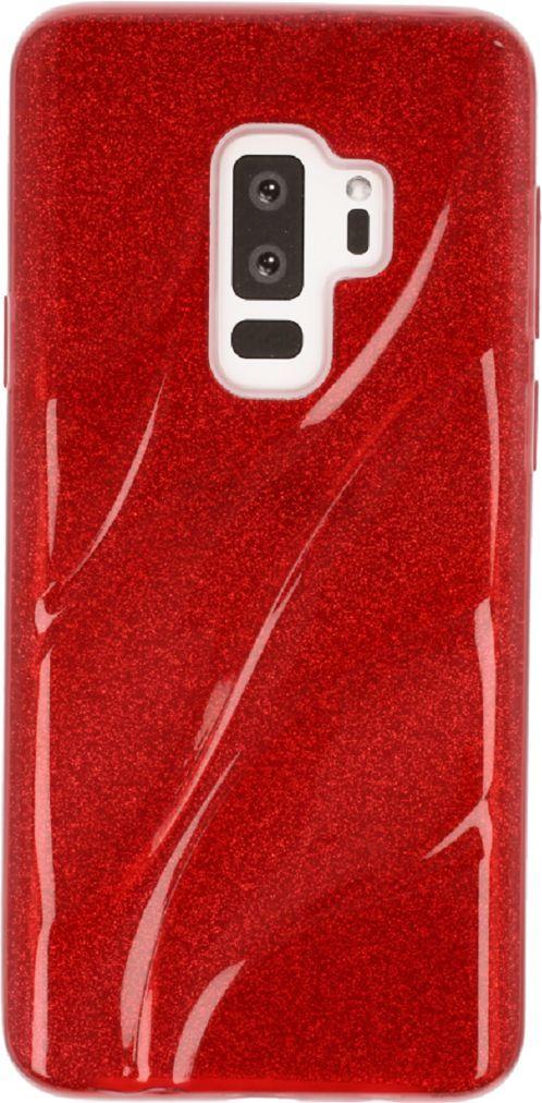 nemo Etui Wave glitter SAMSUNG S9+ czerwone 1