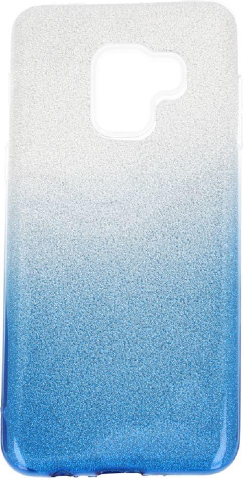 nemo Etui glitter Samsung A8+ 2018 srebrno-niebieski 1