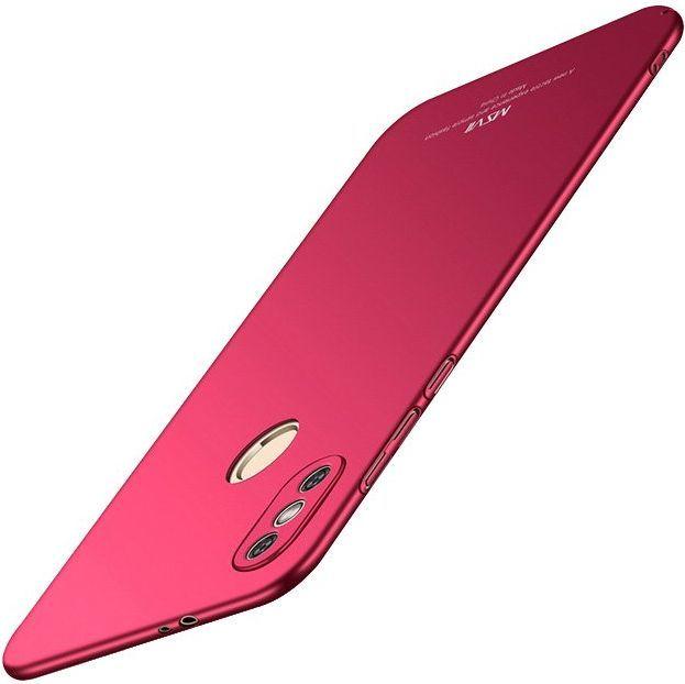 MSVII MSVII Simple ultracienkie etui pokrowiec Xiaomi Redmi Note 5 (dual camera) / Redmi Note 5 Pro czerwony 1