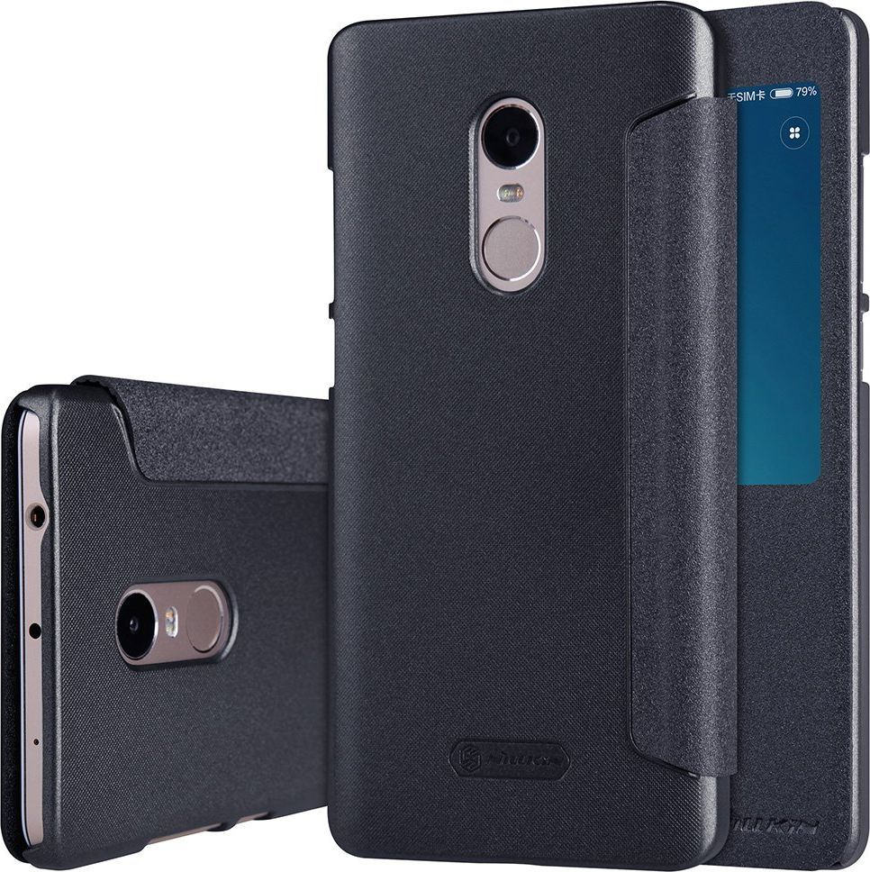 Nillkin Nillkin Sparkle skórzany pokrowiec futerał Xiaomi Redmi Note 4 (MediaTek) ciemnoszary 1