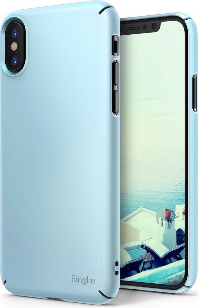 Ringke Ringke Slim ultracienkie etui pokrowiec iPhone X niebieski (SLAP0028-RPKG) 1