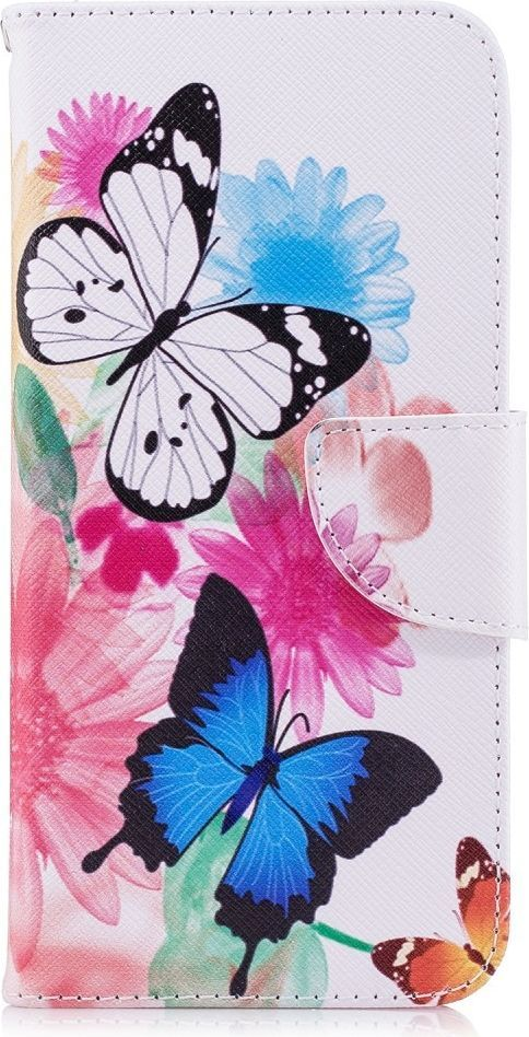 nemo Etui portfel leather LG G7 motyle i kwiat 1