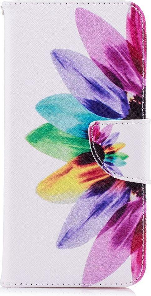 nemo Etui portfel leather LG G7 kolorowane płatki 1