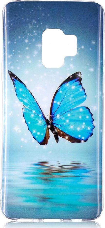 nemo Etui slim case art SAMSUNG S9 SHINY BLUE BUTTERFLY 1
