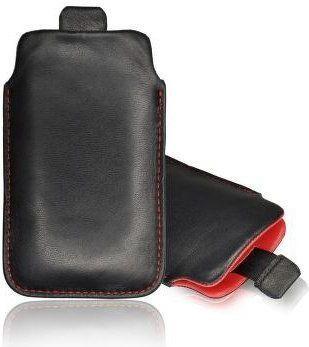 nemo Etui wsuwka skórzana SAMSUNG N950 NOTE 8 czarne (czerwony środek) 1