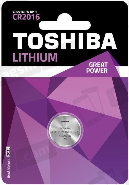 Toshiba Bateria CR2016 1szt. 1