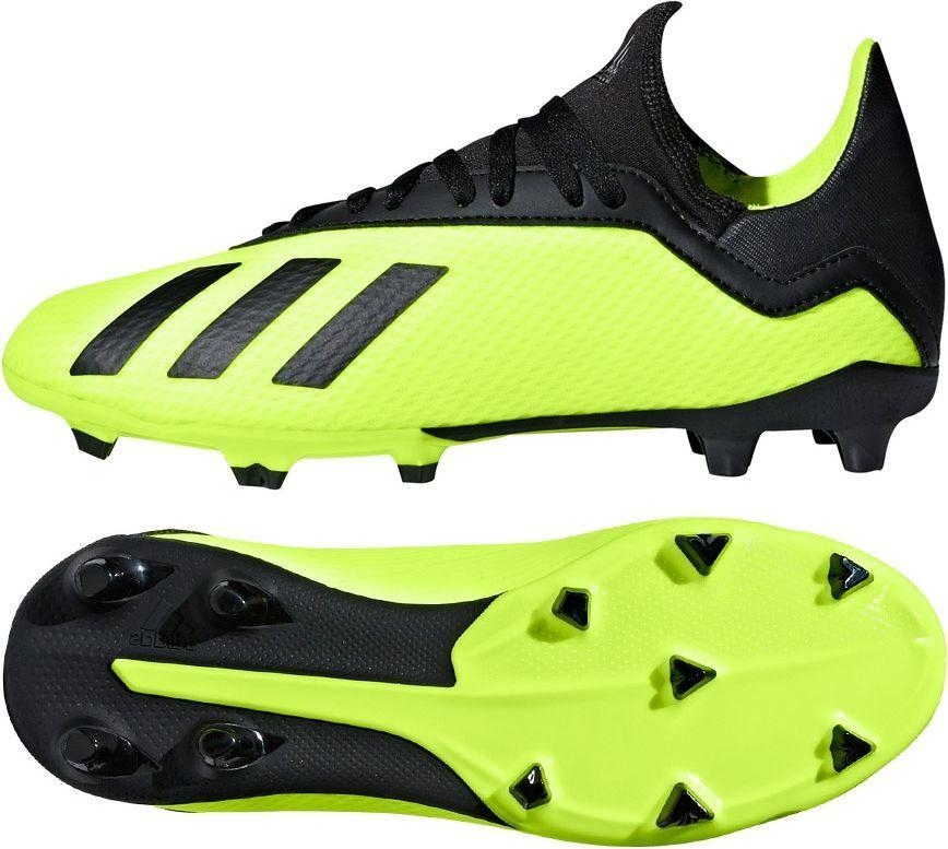 Adidas Buty piłkarskie X 18.3 FG jr żółte r. 34 (DB2418) ID produktu: 4965097