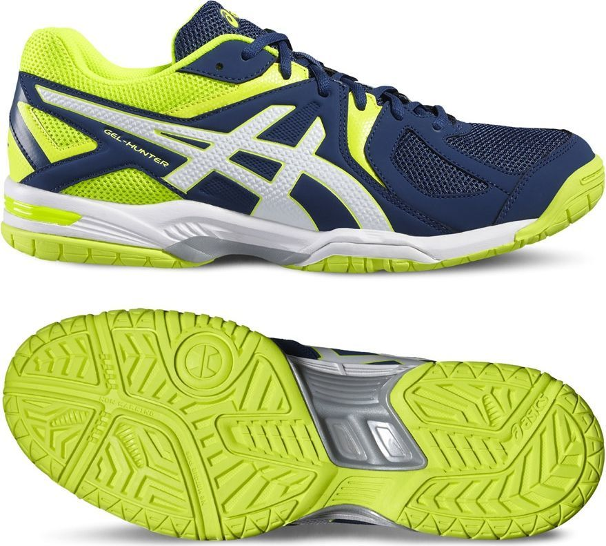 Asics Buty męskie Gel Hunter 3 PoseidonWhiteSafety Yellow r. 42.5 (R507Y 5801) ID produktu: 4965150