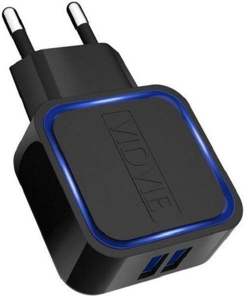 Ładowarka Vidvie sieciowa 2,1A 2xUSB FAST + kabel microUSB (PLE202) 1