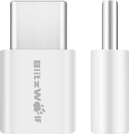 Adapter USB Blitzwolf Adapter USB-C do microUSB biały 2 sztuki (BW-A2) 1