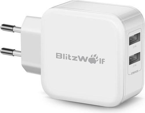Ładowarka Blitzwolf USB kolor biały (BW-S2) 1
