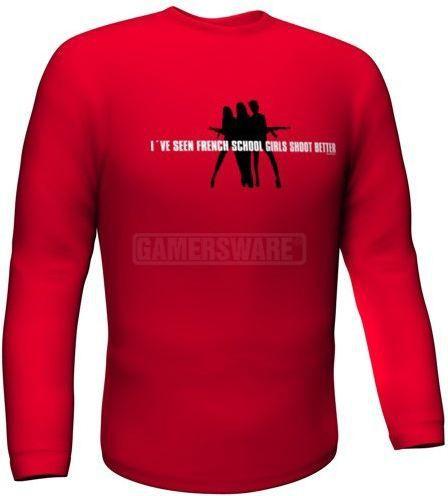 GamersWear Bluza SCHOOLGIRLS Longsleeve czerwona (XL) ( 5984-XL ) 1