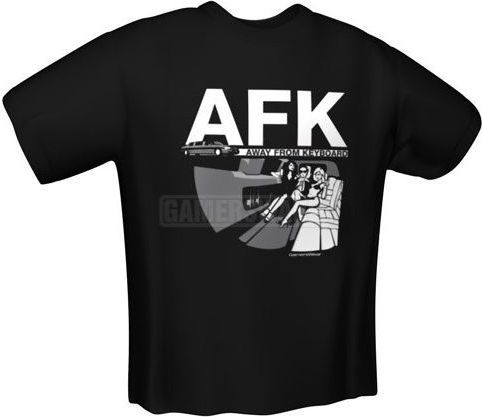 GamersWear AFK T-Shirt czarna (M) ( 6073-M ) 1