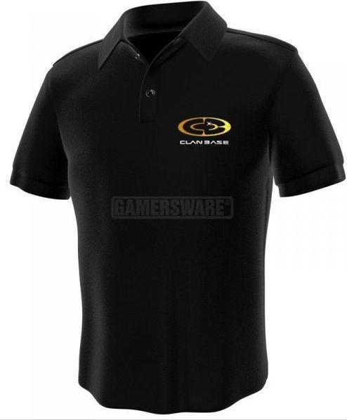 GamersWear Clanbase Polo czarna (L) ( 0102-L ) 1