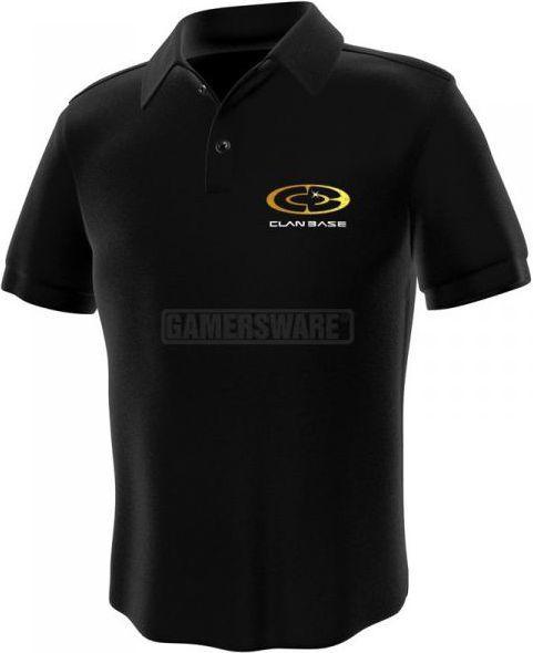 GamersWear Clanbase Polo czarna (XL) ( 0103-XL ) 1