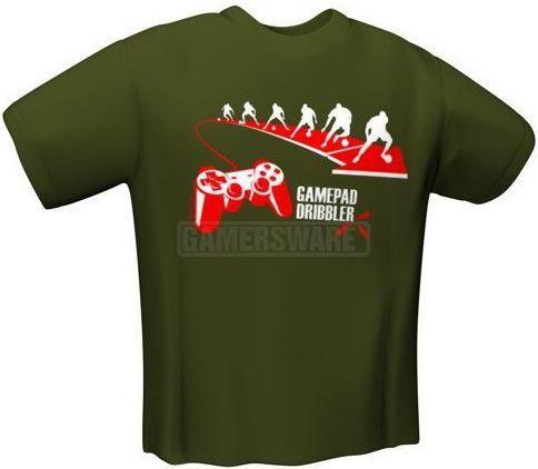 GamersWear GAMEPAD DRIBBLER T-Shirt oliwkowa (L) ( 6033-L ) 1
