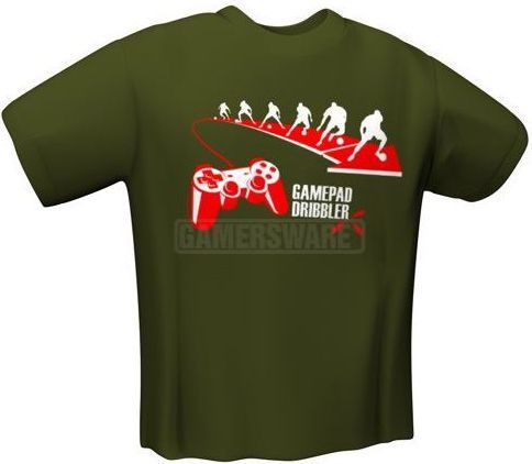 GamersWear GAMEPAD DRIBBLER T-Shirt oliwkowa (M) ( 6033-M ) 1
